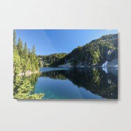 Snow Lake Metal Print