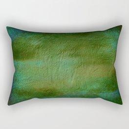 Shades of Deep Green Texture Rectangular Pillow