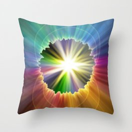 Rip In Time Throw Pillow