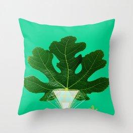 Fig Leaf Diamond Christmas Tree Throw Pillow