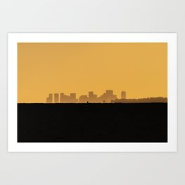 Boston Sunset from Cape Ann Art Print