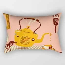 ORANGE TEA SPILL Rectangular Pillow