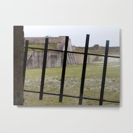 Behind Iron Gate Metal Print