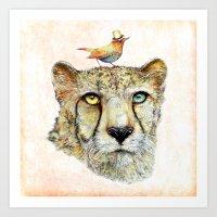 cheetah Art Prints featuring Cheetah by dogooder
