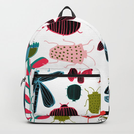 Insect watercolor white Backpack