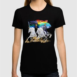 Preposterous Presidents - Barack and Michelle Obama - Unicorn Pride T-shirt