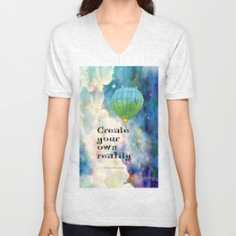 CREATE YOUR OWN REALITY Unisex V-Neck