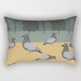 Pigeons Day Out Rectangular Pillow