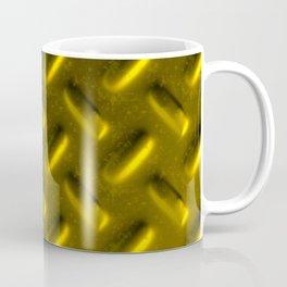 Dirty checkered gold plate Coffee Mug