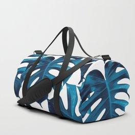 Tropical Monstera Leaves Dream #8 #tropical #decor #art #society6 Duffle Bag
