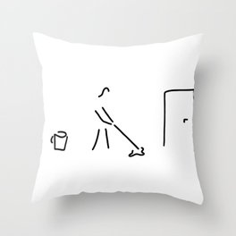cleaning lady building cleaner Throw Pillow
