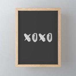 xoxo kiss Framed Mini Art Print