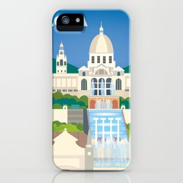 Barcelona, Spain - Skyline Illustration by Loose Petals iPhone Case