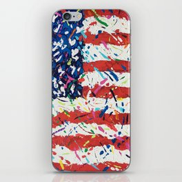 Born on the 4th of July, US Confetti Flag iPhone Skin