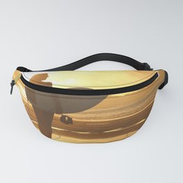Surfer on the Beach (Woman) Fanny Pack