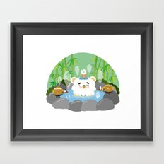 ollaお湯 Framed Art Print