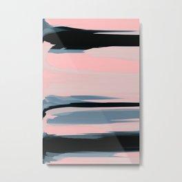 Soft Determination Peach Metal Print