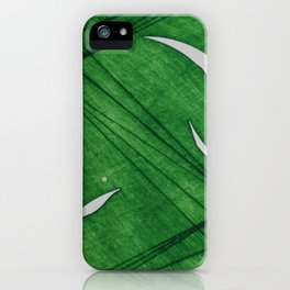 Grabado lineas verde iPhone Case