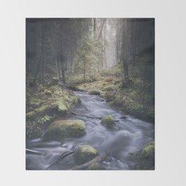 Silent whispers Throw Blanket
