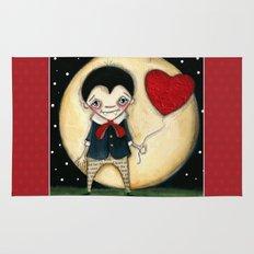 Forever Love - A Vampire Valentine Print Rug
