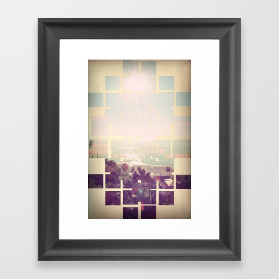 Today was a good day.. Framed Art Print