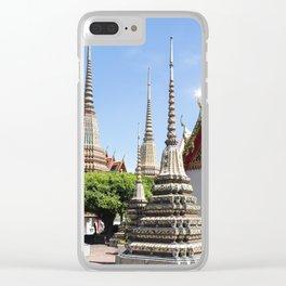 Stupas in Wat Pho, Bangkok Clear iPhone Case