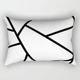 Black and White Fragments - Geometric Design I Rectangular Pillow