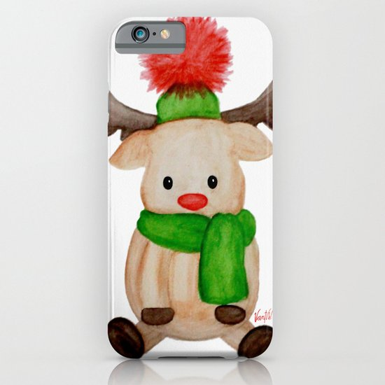 Winter Reindeer iPhone & iPod Case