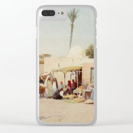 Kelly, Robert Talbot (1861-1934) - Egypt 1903, A corner in the market-place Clear iPhone Case
