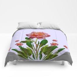 GREY ORNATE VINTAGE  ROSES DESIGN Comforters