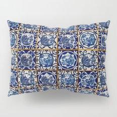 Blue Willow Tiles Pillow Sham