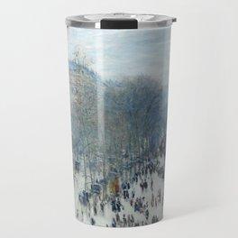Claude Monet - Boulevard des Capucines, 1873 Travel Mug