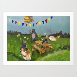 A Gathering of Sorts Art Print