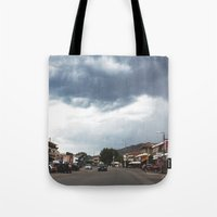 greece Tote Bags featuring Greece by Pauline Gauer