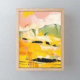 landscape abtract - paysage jaune Framed Mini Art Print