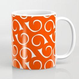 Orange and White Swirls Coffee Mug