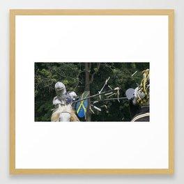 Glancing Blow Framed Art Print