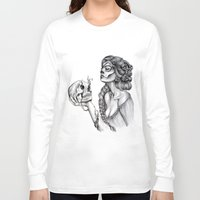 sugar skull Long Sleeve T-shirts featuring Sugar Skull by April Alayne