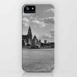 Liverpool Skyline Mono iPhone Case