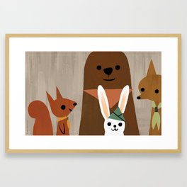 Forest Scouts Framed Art Print