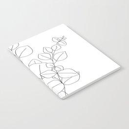 Minimalistic Eucalyptus  Line Art Notebook