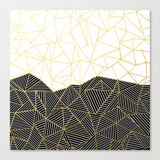 Ab Half and Half White Gold Canvas Print