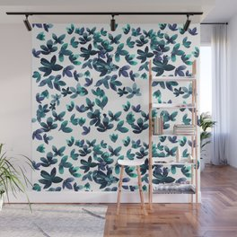 Born to Butterfly - Teal and Navy Palette Wall Mural
