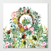 new year Canvas Prints featuring NEW YEAR by Burcu Korkmazyurek