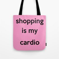 shopping Tote Bags featuring SHOPPING by I Love Decor