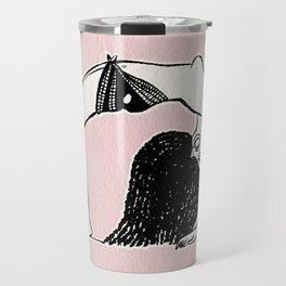 Dancing girl egyptian ostracon Travel Mug