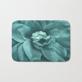 Soft Teal Flower Bath Mat
