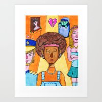 sadness and love Art Print