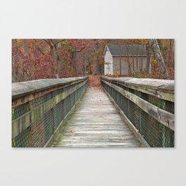 Rustic Autumn Boardwalk Canvas Print