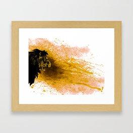 Lion Loud Framed Art Print
